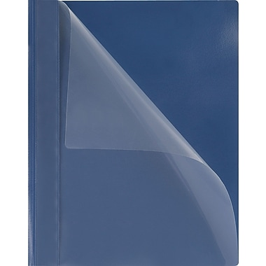 Oxford® PressLock Clear Front Report Covers, Blue