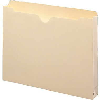 Smead® Reinforced Tab Manila File Jackets, Letter 1 1/2in. Expansion, 50/Box
