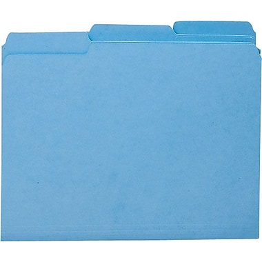 Smead Colored Interior File Folders, Letter, Blue, 100/Box