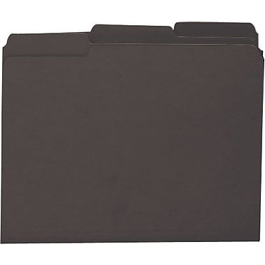 Smead Colored Interior File Folders, Letter, Black, 100/Box