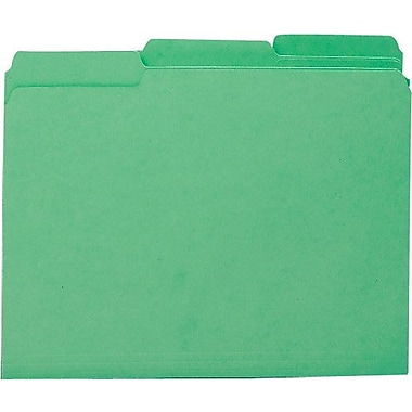 Smead Colored Interior File Folders, Letter, Green, 100/Box