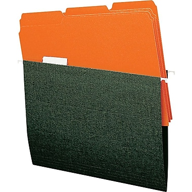 Smead Colored Interior File Folders, Letter, Orange, 100/Box