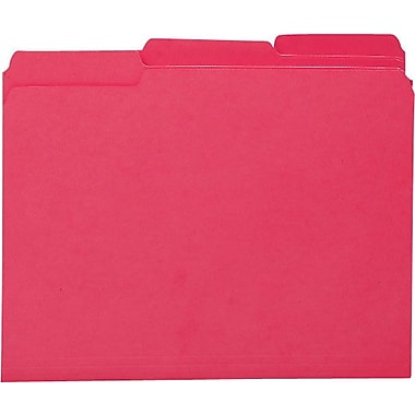 Smead Colored Interior File Folders, Letter, Red, 100/Box