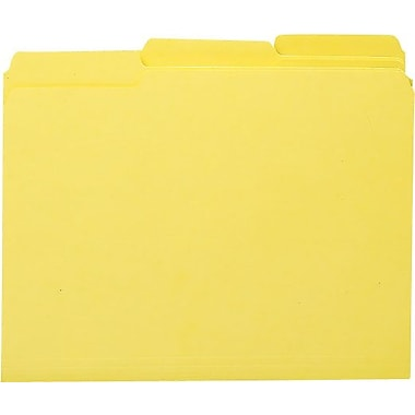 Smead Colored Interior File Folders, Letter, Yellow, 100/Box