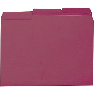 Smead Colored Interior File Folders, Letter, Maroon, 100/Box