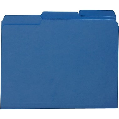 Smead Colored Interior File Folders, Letter, Navy, 100/Box