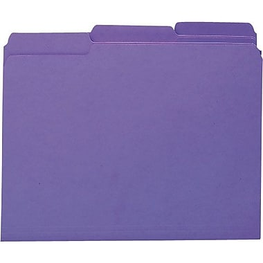 Smead Colored Interior File Folders, Letter, Purple, 100/Box