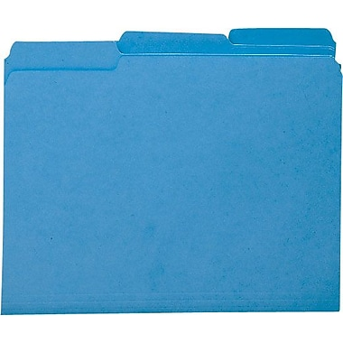 Smead Colored Interior File Folders, Letter, Sky Blue, 100/Box