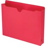 "Smead® Colored File Jackets with Reinforced Tab, Letter, Red, 2"" Expansion, 50/Box"