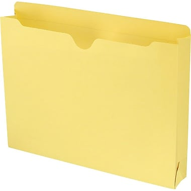 Smead® Colored File Jackets with Reinforced Tab, Letter, Yellow, 2