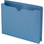 "Smead®  File Jacket, Reinforced Straight-Cut Tab, 2"" Expansion, Letter Size, Blue, 50 per Box (75562)"