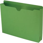 Smead® Colored File Jackets with Reinforced Tab, Letter, Green, 2 Expansion, 50/Box