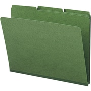 Smead® Colored Pressboard File Folders, 3 Tab, Letter, Green, 25/Box