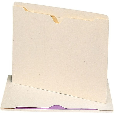 Smead® Reinforced Tab Manila File Jackets, Letter, Flat, 100/Box