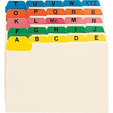Smead® 5in. x 8in. Alphabetical Indexed Tab Guide Sets