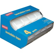 "Staples Invisible Tape Caddies, 3/4"" x 11.1 yds, 4/Pack (52384-P4D)"