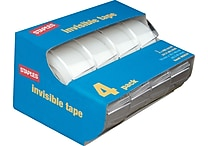 Staples® Invisible Tape Caddies, 3/4' x 11.1 yds, 4/Pack