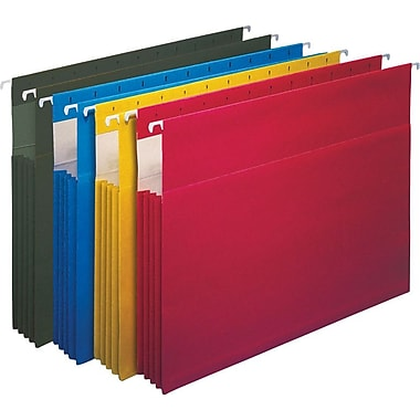 Staples Hanging File Pockets, Letter, Assorted Colors, 4/Box