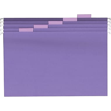 Staples® Colored Hanging File Folders, Legal, 5 Tab, Purple, 25/Box
