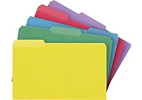 Staples Colored 3-Tab File Folders, Legal, Assortment D, 100/Box