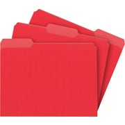 Staples® Interior File Folders, Letter, Red, 100/Box
