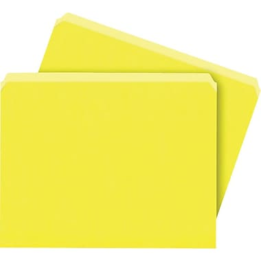 Staples® Colored File Folders, Letter, Single Tab, Yellow, 100/Box