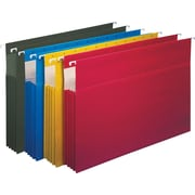 "Staples® 3-1/2"" Hanging File Pockets, Legal Size, Assorted Colors, 4/Box (781575)"