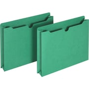 Staples® Colored File Jackets, Letter, 2 Expansion, Green, 25/Box