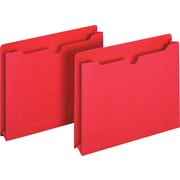 Staples® Colored File Jackets, Letter, 2 Expansion, Red, 25/Box