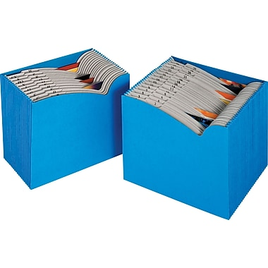 Staples® ColorWave Expanding Files, Letter, 1-31 Index, Blue, Each
