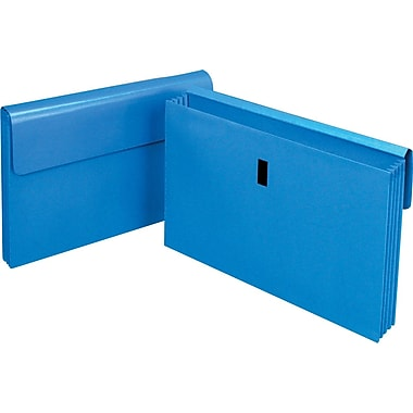 Staples Laminated Expanding Wallet, Legal, 3 1/2in. Expansion, Blue, Each
