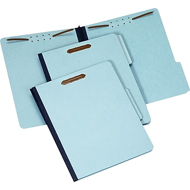 Staples Pressboard Fastener Folders, Letter, 1in. Expansion, 25/Box
