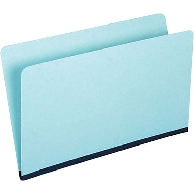 Staples Pressboard File Folders, Single Tab, Legal, Blue, 25/Box