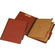 Staples® 100% Recycled Classification Folders, Letter, 2 Partitions, Red, 20/Box