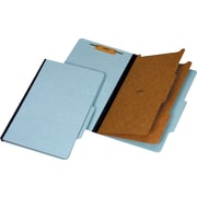 Staples® 100% Recycled Classification Folders, Legal, 2 Partitions, Blue, 20/Box