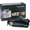 Lexmark 12A8425 Black Return Program Toner Cartridge, High Yield