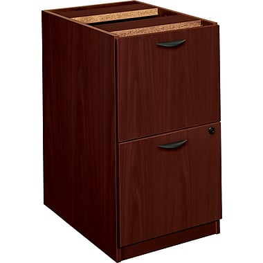 basyx by HON BL Collection, 2-Drawer Pedestal File, Mahogany