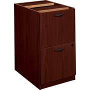 basyx by HON BL Series Pedestal File Cabinet, Mahogany, 2-Drawer