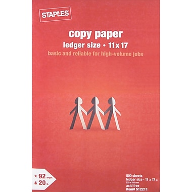Staples® Copy Paper, 11in. x 17in., Ream
