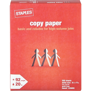 Staples® Copy Paper, 8 1/2in. x 11in., Ream