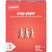 Staples® Copy Paper, 8 1/2 x 11, Ream