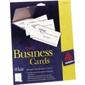 Avery Laser Business Cards, White, 2in. x 3 1/2in., 250/Cards