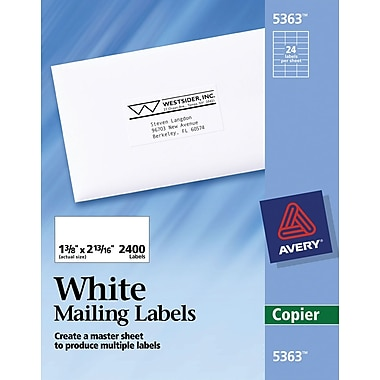 Avery® White Copier Address Labels