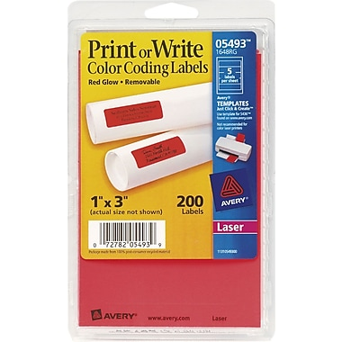 Avery® Print or Write Rectangular Color Coding Labels