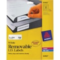 Avery 6460 Removable Inkjet/Laser Labels, 1in. x 2-5/8in., 750/Pack