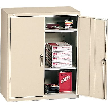 HON® Brigade, 3-Shelf Assembled Storage Cabinets, 42in.H x 36in.W x 18in.D, Putty