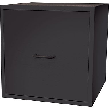 Foremost® Hold'ems Modular Cube Storage System, Black Cube with One Drawer