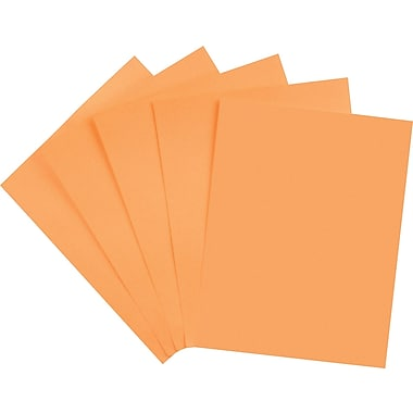Wausau Paper Astrobrights® Colored Card Stock, 8 1/2in. x 11in., Cosmic Orange, 250/Pack