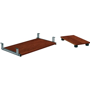 Bestar Embassy Collection Keyboard Shelf & CPU Platform, Tuscany Brown