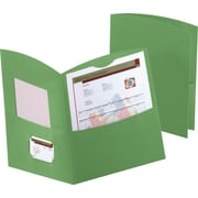 Oxford Contour 2-Pocket Folders, Green, 25/Box